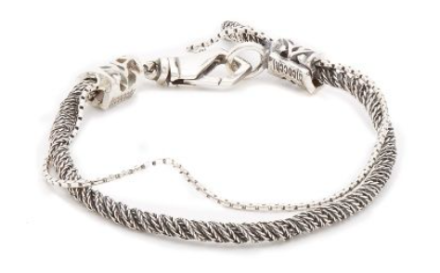 Silver Rope Braclet by Emanuele Bicocchi