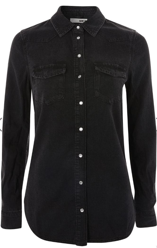 Black demin shirt from Topshop