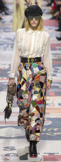 These patchwork trousers are a heavenly concoction of luxury fabrics and imaginative patterns.