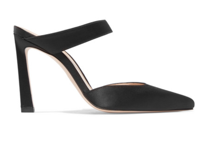 Event Satin Mules by Stuart Weitzman