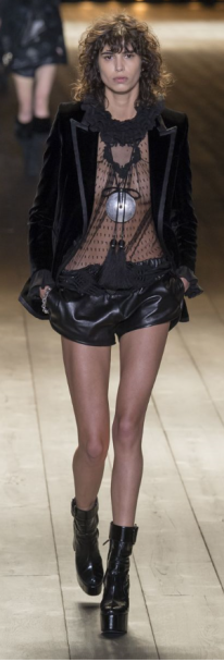 Tiny black leather shorts may give you frost bite in Paris at Winter-time but atleast you'll look cute.